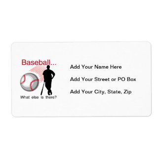 Béisbol qué más camisetas y regalos etiqueta de envío