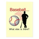 Béisbol qué más camisetas y regalos tarjeta postal