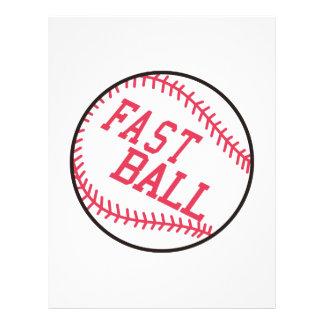 Béisbol rápido membrete a diseño