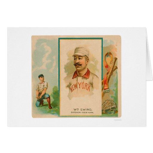 Béisbol raro 1888 de Ewing del dólar Tarjetón