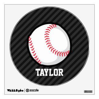 Béisbol; Rayas negras y gris oscuro