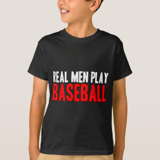 Béisbol real del juego de los hombres playeras