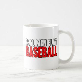 Béisbol real del juego de los hombres taza