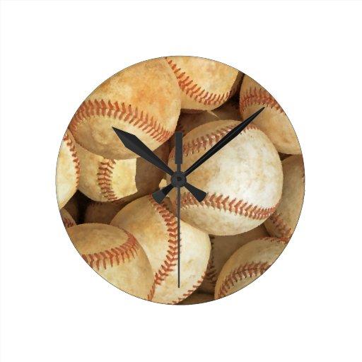 Béisbol Reloj Redondo Mediano