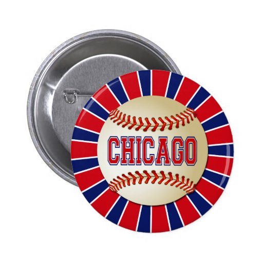 BÉISBOL RETRO DE CHICAGO PIN REDONDO 5 CM