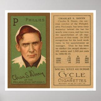 Béisbol rojo 1911 de Dooin Phillies Posters