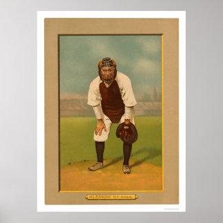 Béisbol rojo 1911 de los yanquis de Kleinow Impresiones
