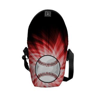 Béisbol rojo bolsas messenger