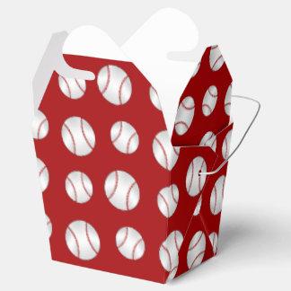 Béisbol rojo caja para regalo de boda