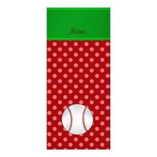 Béisbol rojo conocido personalizado de los lunares tarjetas publicitarias