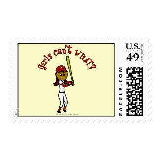 Béisbol rojo oscuro de los chicas franqueo
