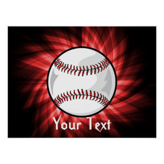 Béisbol rojo posters