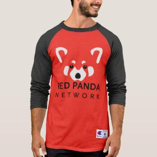 Béisbol rojo T de la panda roja Remeras