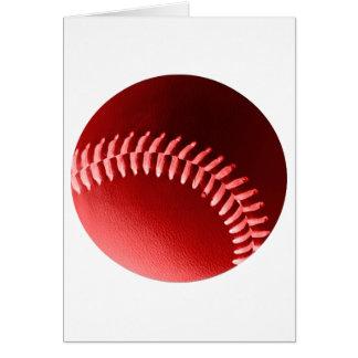 Béisbol rojo tarjeta de felicitación