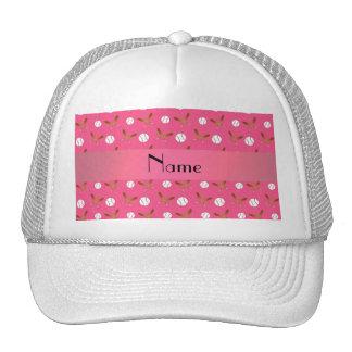 Béisbol rosado conocido personalizado gorras de camionero