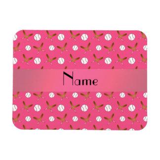 Béisbol rosado conocido personalizado imanes de vinilo