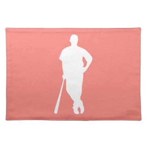 Béisbol rosado coralino mantel