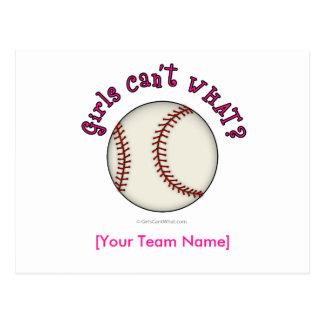 Béisbol-Rosado Tarjetas Postales