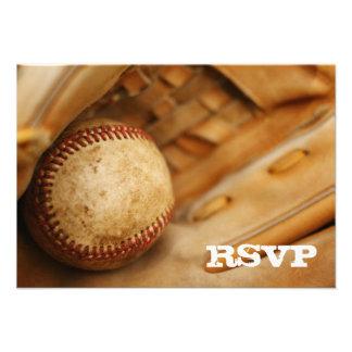 Béisbol RSVP temático Comunicado Personal