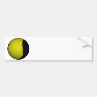 Béisbol/softball amarillos y negros pegatina para auto