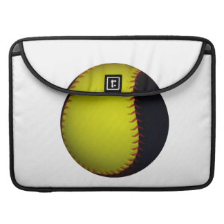 Béisbol/softball amarillos y negros fundas macbook pro