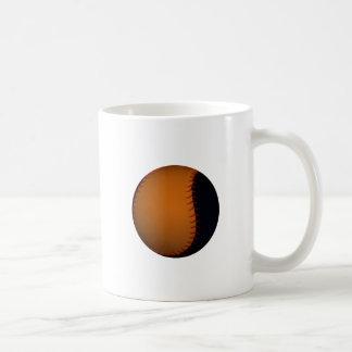 Béisbol/softball anaranjados y negros tazas