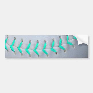 Béisbol/softball azules claros de las puntadas pegatina de parachoque