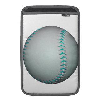 Béisbol softball azules claros de las puntadas funda para macbook air