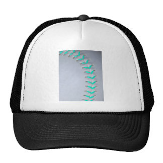 Béisbol/softball azules claros de las puntadas gorras