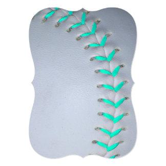 """Béisbol/softball azules claros de las puntadas invitación 5"""" x 7"""""""