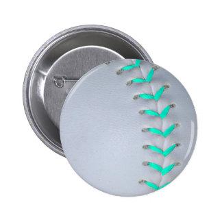 Béisbol/softball azules claros de las puntadas pin