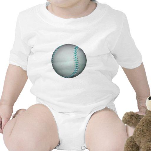 Béisbol/softball azules claros de las puntadas camiseta