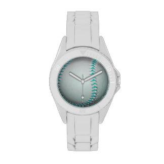 Béisbol softball azules claros de las puntadas reloj de mano