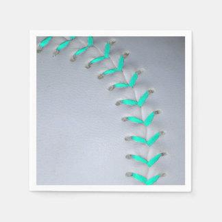 Béisbol/softball azules claros de las puntadas servilletas de papel