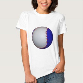 Béisbol/softball blancos y azules playeras