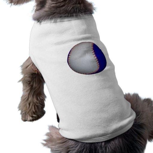Béisbol/softball blancos y azules camisa de mascota