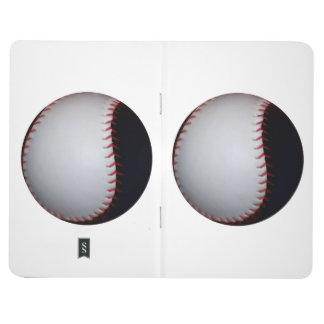 Béisbol/softball blancos y negros cuadernos