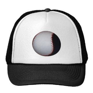 Béisbol/softball blancos y negros gorras de camionero