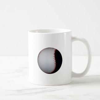 Béisbol/softball blancos y negros taza de café