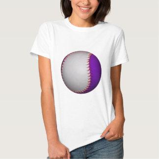 Béisbol/softball blancos y púrpuras camisas