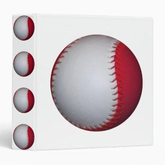 "Béisbol/softball blancos y rojos carpeta 1 1/2"""