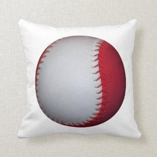 Béisbol/softball blancos y rojos cojin