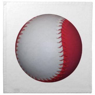 Béisbol/softball blancos y rojos servilletas de papel