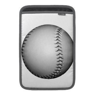 Béisbol softball de costura negros funda macbook air