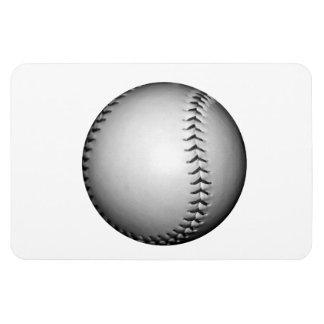 Béisbol/softball de costura negros rectangle magnet