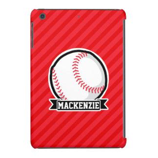 Béisbol, softball; Rayas diagonales rojas Fundas De iPad Mini