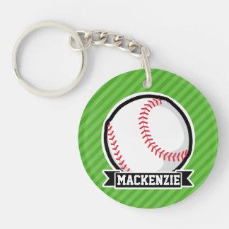 Béisbol, softball; Rayas verdes Llaveros