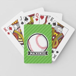 Béisbol, softball; Rayas verdes Cartas De Póquer
