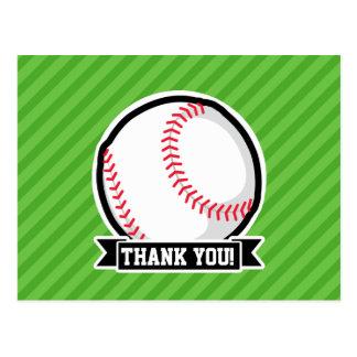 Béisbol, softball; Rayas verdes Tarjeta Postal