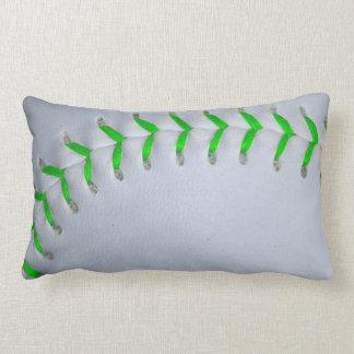 Béisbol/softball verdes claros de las puntadas almohadas